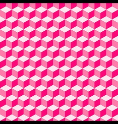 Pink Geometric Volume Seamless Pattern Background vector image