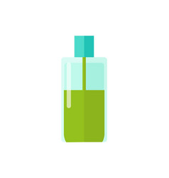 plastic bottle and liquid vector image