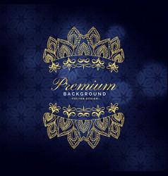 Premium golden ornamental decoration background vector