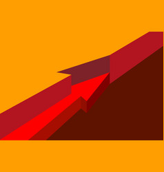 Red arrow hidden in layers isometry visual aid in vector