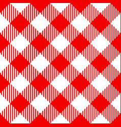 Red check diagonal seamless pattern vector