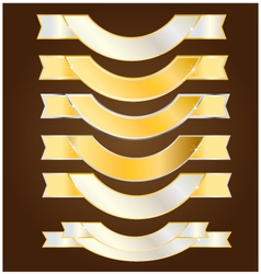Ribbon gold and silver vector