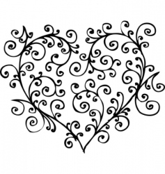 Romantic heart vignette vector