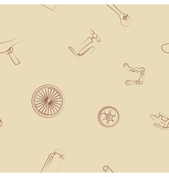 Seamless background with bicycle icons vector image