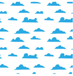 Seamless pattern with hand drawn clouds design vector