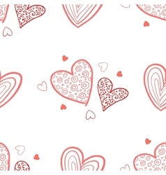 Seamless valentine pattern vector image