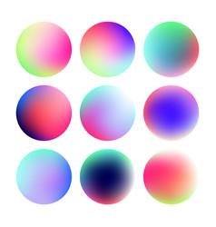 set of round color gradient vector image
