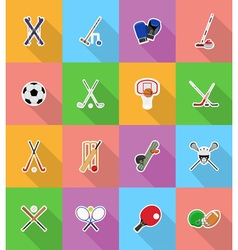 sport flat icons 18 vector image