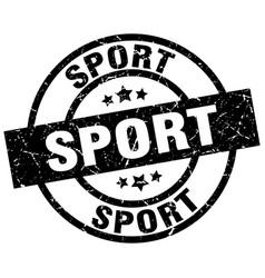 Sport round grunge black stamp vector