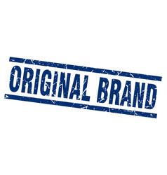 square grunge blue original brand stamp vector image