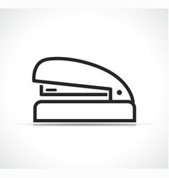 stapler line icon design vector image