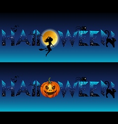 Stylized halloween title vector