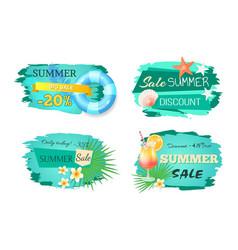Summer big sale banners set vector