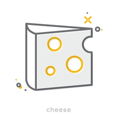thin line icons cheese vector image
