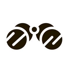 Tourist camping binoculars icon glyph vector