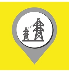 Tower of energy isolated icon design vector