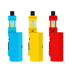 vape devices set vaping culture smoking vapor vector image