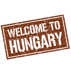 Welcome to hungary stamp vector