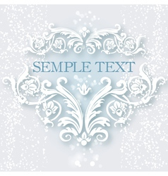 White vintage baroque border vector