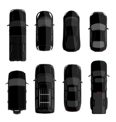 Black car set vector image vector image