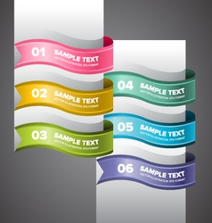 Colorful Swirl Banners vector image vector image