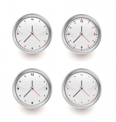 four clocks vector image vector image