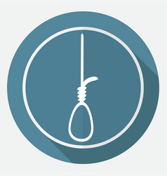 icon noose on white circle with a long shadow vector image