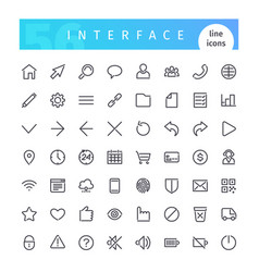 interface line icons set vector image
