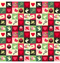 pattern Valentine vector image vector image