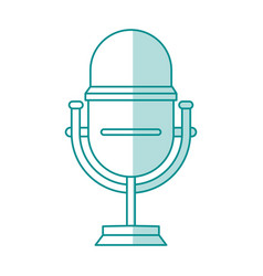 blue shading silhouette of studio microphone vector image