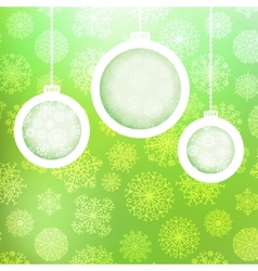 Christmas balls with snowflakes EPS8 vector image vector image