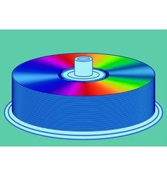 DVD stack vector image vector image