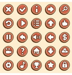 Flat and simple video game buttons vector image