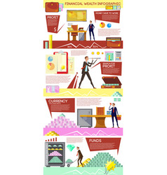 how to grow rich infographics vector image vector image