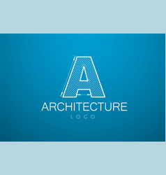 logo template letter a in the style of a vector image