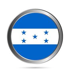 Honduras flag button vector image