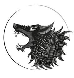 wolf head logo vector image vector image