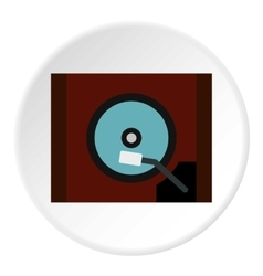 Gramophone icon flat style vector image