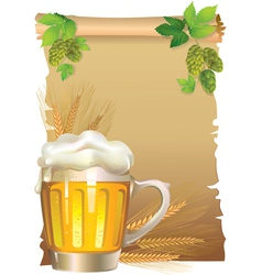 Retro beer background vector image vector image