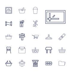 22 empty icons vector