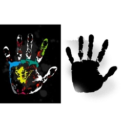 Abstract grunge hand style art vector