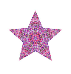 Abstract isolated triangle mosaic pentagram star vector