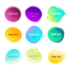 Abstract round shapes for your text gradient vector