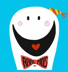 april fool day smile cartoon vector image