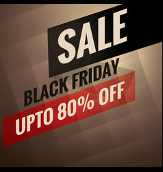 black friday sale banner with discount option vector image
