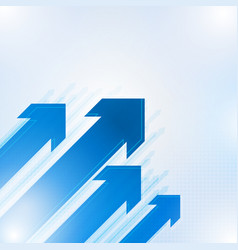 blue abstract arrows background vector image