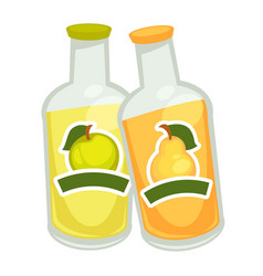 Bottles with fizzy drin vector