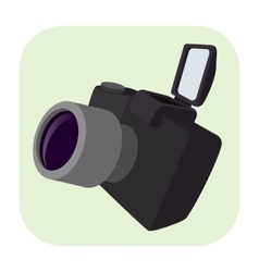 Camera cartoon icon vector