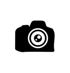 camera lens professional silhouette symbol design vector image
