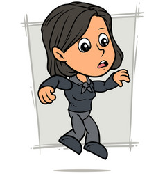cartoon falling girl character in black clothes vector image